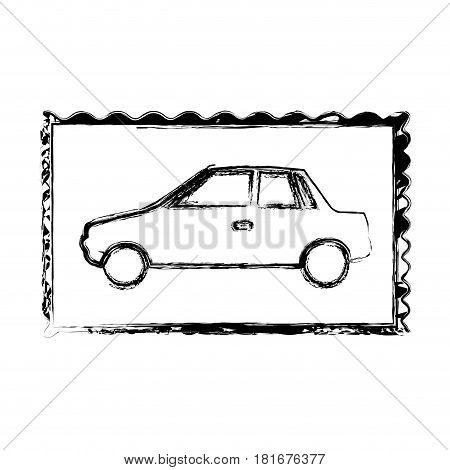 blurred silhouette frame of automobile vector illustration