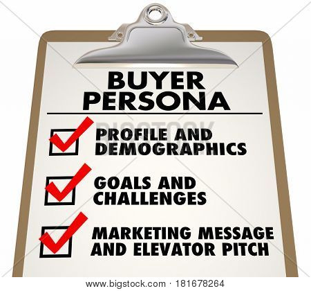 Buyer Persona Clipboard Checklist Customer Profile 3d Illustration