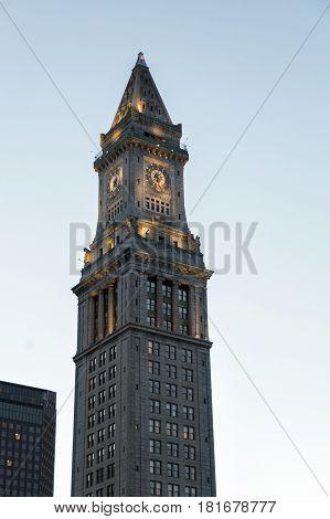The Custom House in Boston, Massachusetts, United States of America