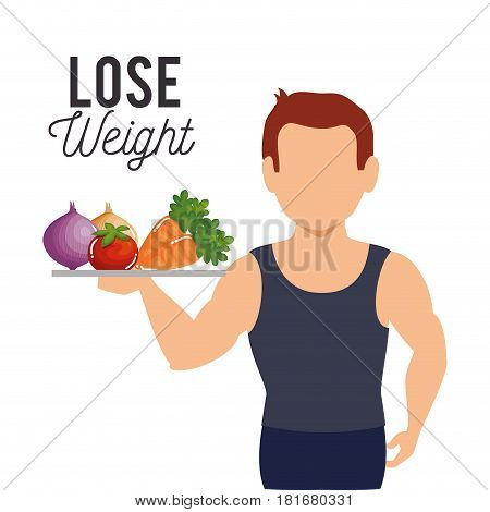 lose weight concept icons vector illustration design