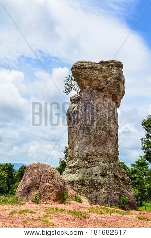 Stonehenge of Thailand (Mor Hin khao) The ancient strange stone is landmark at Chaiyaphum province Thailand
