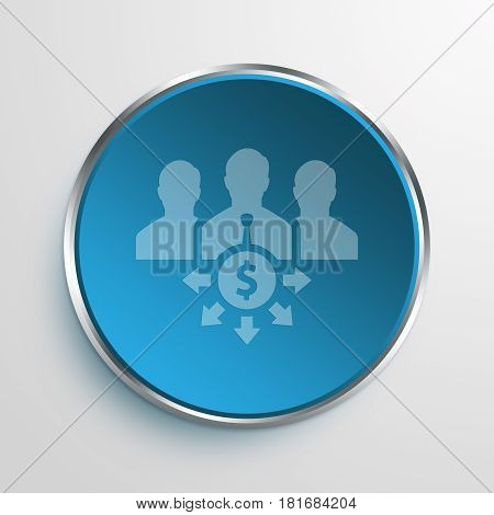 Blue Sign Crowdfunding Symbol icon Business Concept