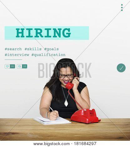 Job Career Hiring Recruitment Qualification Graphic
