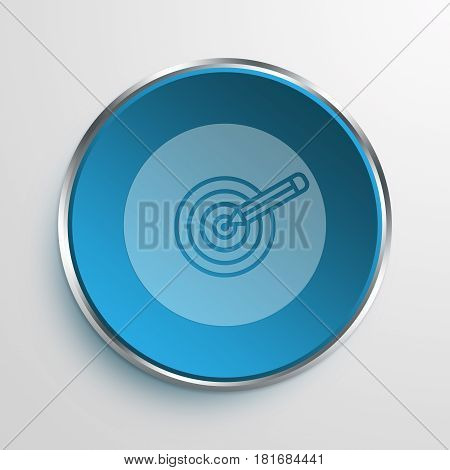 Blue Sign dart Symbol icon Business Concept