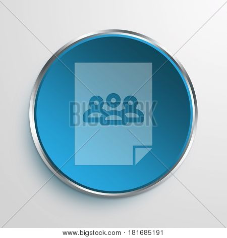 Blue Sign document teleconference Symbol icon Business Concept