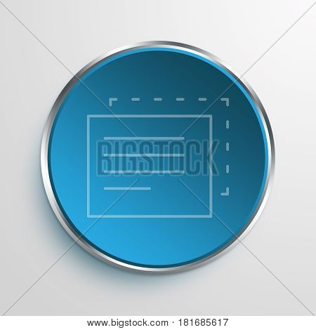 Blue Sign Duplicate Content Symbol icon Business Concept