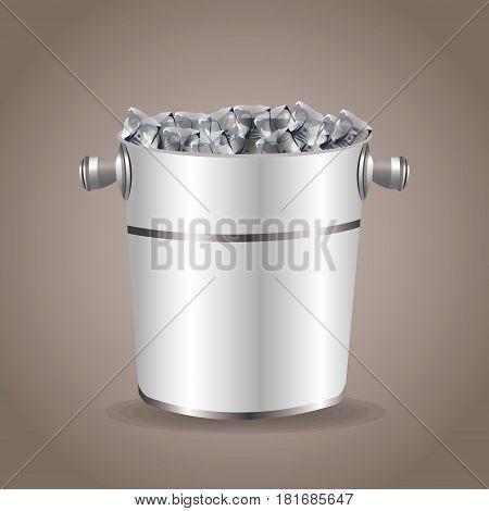ice bucket beverage equipment vector illustration eps 10