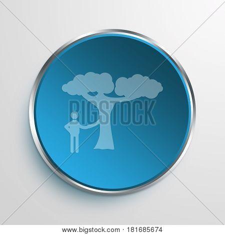 Blue Sign Eco-friendly Symbol icon Business Concept