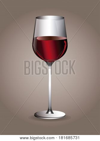 wine beverage glassware image vector illustration eps 10