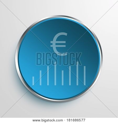 Blue Sign financial bar chart Symbol icon Business Concept