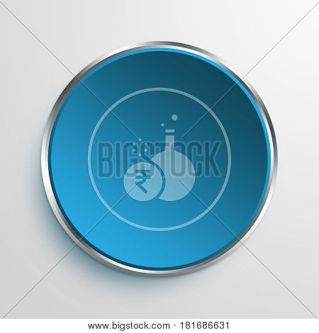 Blue Sign Financial Experiment Symbol icon Business Concept