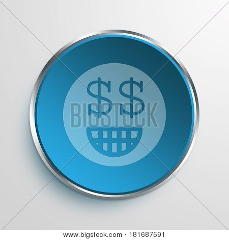 Blue Sign Greedy Symbol icon Business Concept