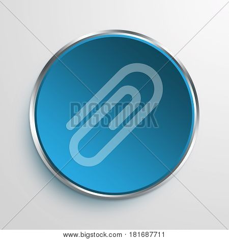 Blue Sign hairpin Symbol icon Business Concept