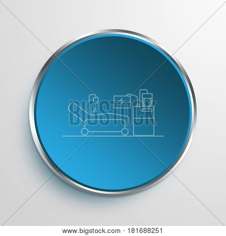 Blue Sign ICU Symbol icon Business Concept