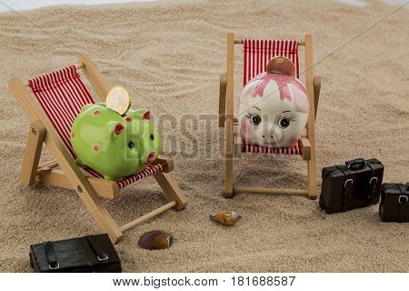 piggy lounging