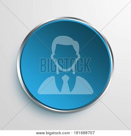Blue Sign investor Symbol icon Business Concept