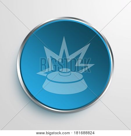 Blue Sign Land Mine Symbol icon Business Concept