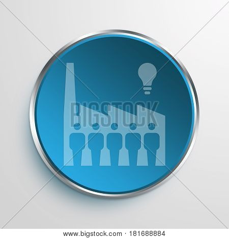 Blue Sign Large Inventor Symbol icon Business Concept