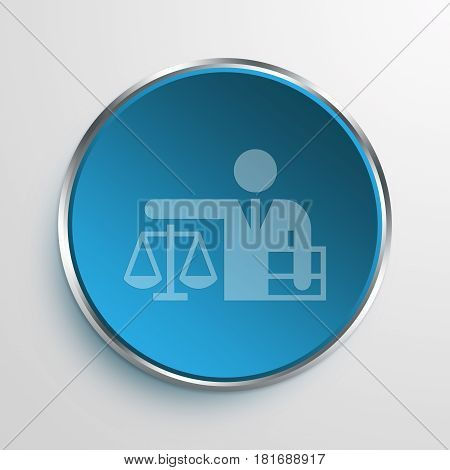 Blue Sign Lawyer Symbol icon Business Concept