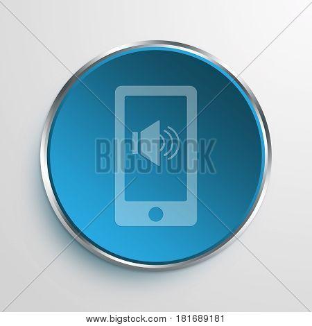 Blue Sign loud Symbol icon Business Concept