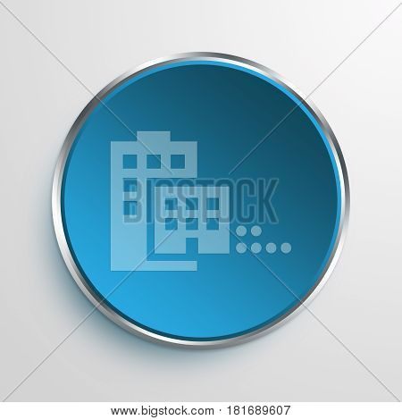 Blue Sign Merger Symbol icon Business Concept