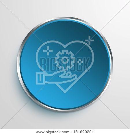 Blue Sign moral Symbol icon Business Concept