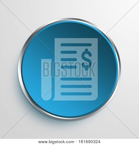 Blue Sign Newspaper Symbol icon Business Concept