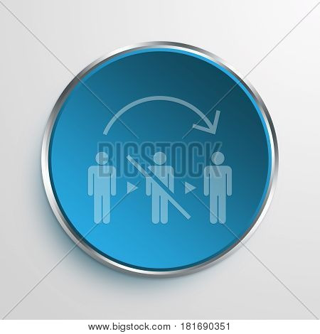 Blue Sign No Mediator Symbol icon Business Concept