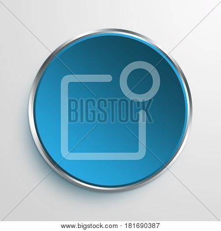 Blue Sign notification Symbol icon Business Concept