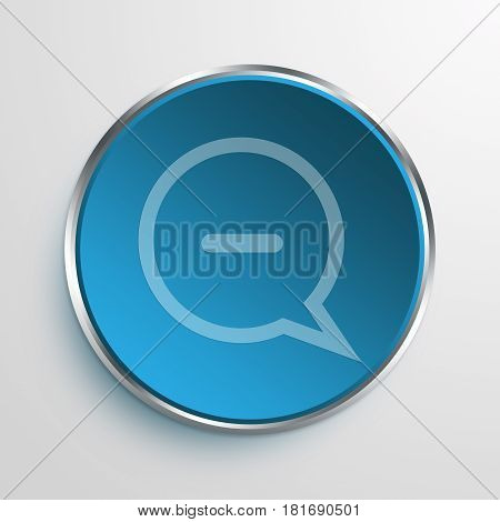 Blue Sign offline Symbol icon Business Concept