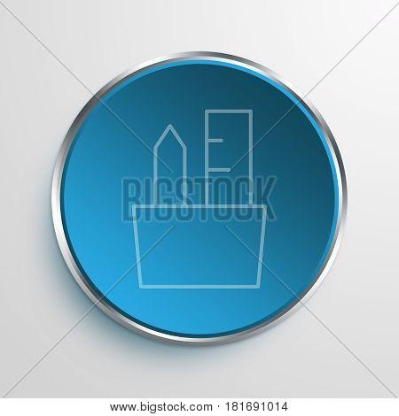 Blue Sign pen holder Symbol icon Business Concept