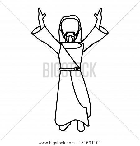 jesus christ prayer devotion outline vector illustration eps 10