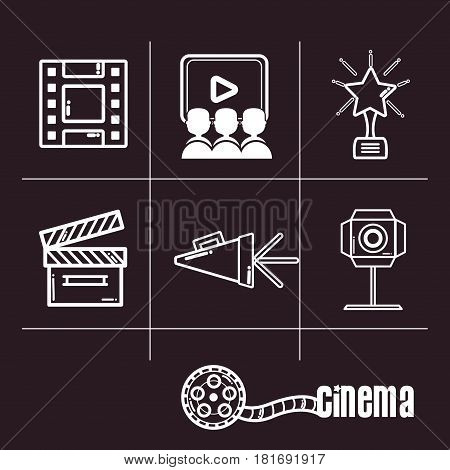 short film cinematography production studio, vector illustration