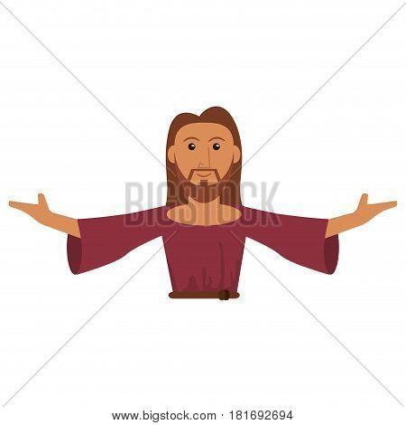 portrait jesus christ prayer spiritual vector illustration eps 10