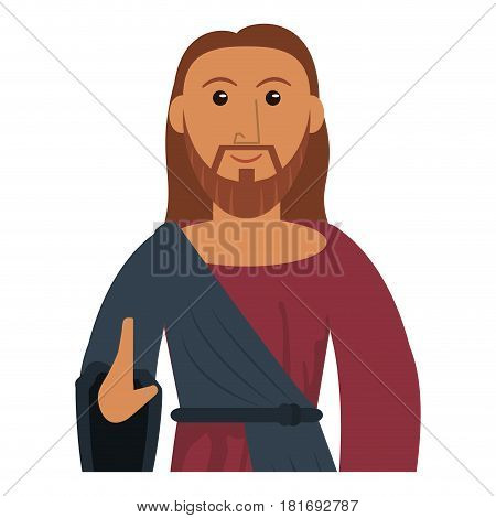 jesus christ prayer sacred image vector illustration eps 10