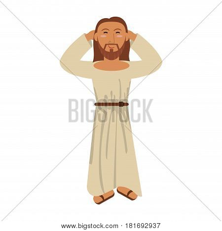 jesus christ religious catholicism image vector illustration eps 10