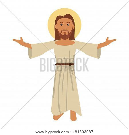 jesus christ blessed faith image vector illustration eps 10