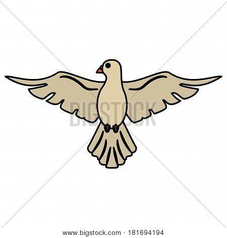 holy spirit dove symbol peace vector illustration eps 10