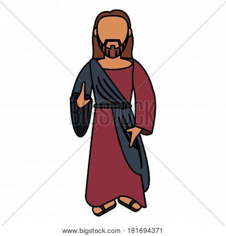 jesus christ catholic sac image vector illustration eps 10