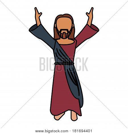 jesus christ catholic prayer vector illustration eps 10