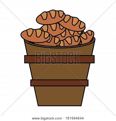 bread multiplication metaphor religion vector illustration eps 10