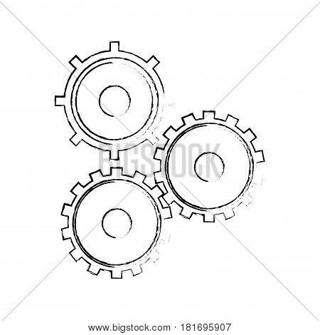 gear cog teamwork collaboration concept sketch vector illustration eps 10