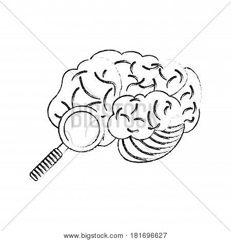 sketch brain search discovery vector illustration eps 10
