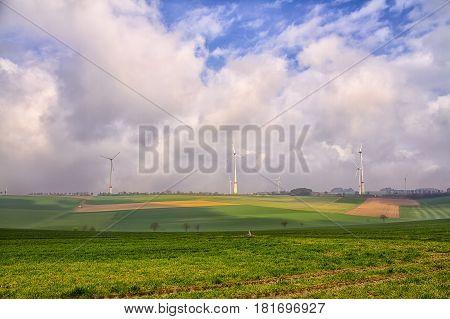 Wind farm- Wind farm in Padeborn, Westphalia,Germany