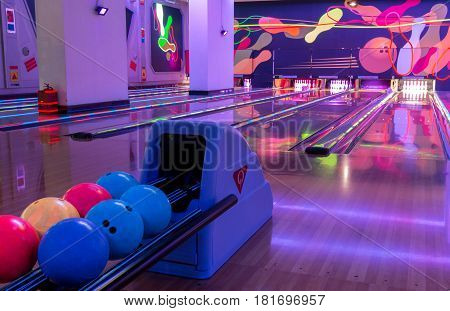 Genting Highlands, Malaysia - Mar 22: Resort World Genting Bowling For Gambler And Visitor Resort Wo