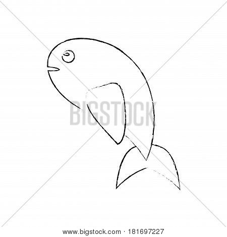 fish food miracle religious sketch vector illustration eps 10