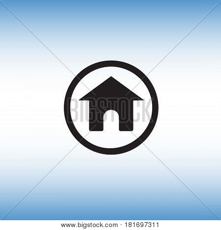 Home flat vector sign. Isolated homepage vector icon illustration. Homepage button image.