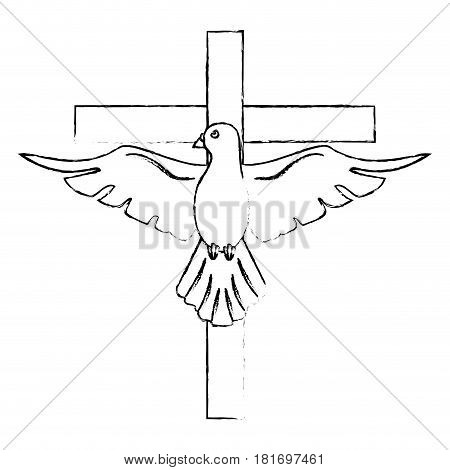 holy spirit cross catholicism sacredness vector illustration eps 10