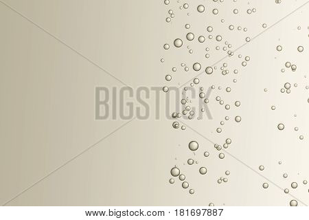 Many small fizz bubbles isolated over a light background.