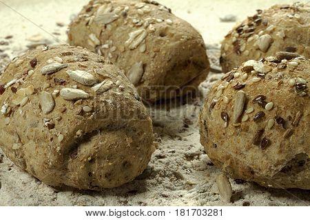 italiano multicereais bread bites Breakfast Baked  Dough